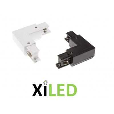 xiled-accessoire coude angle 90° pour rail 3 allumages 220v blanc ou noir