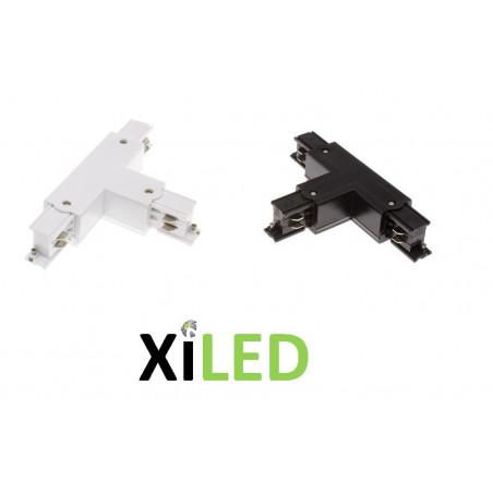 xiled-accessoire connecteur en T pour rail 3 allumages blanc ou noir 3 phases 220v