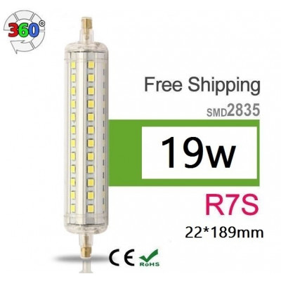 ampoule-led-crayon-360-r7s-19w-189mm-lampadaire-projecteur-indirect 3000k-4000k-6000k