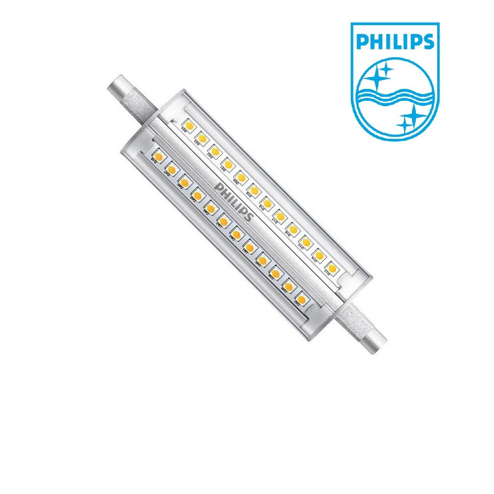 ampoule led crayon r7s philips dimmable 118mm 1600 lumens. Black Bedroom Furniture Sets. Home Design Ideas