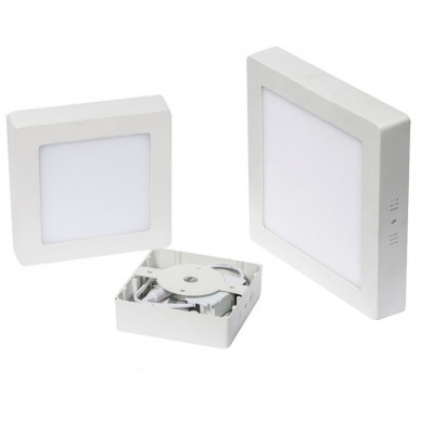 applique plafonnier led carre 6w installation en saillie blanc