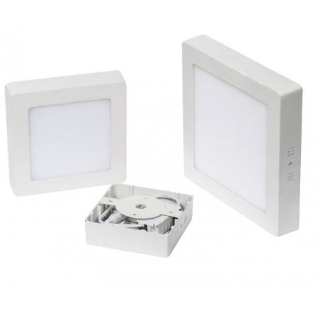 applique plafonnier led carre 6w installation en saillie blanc