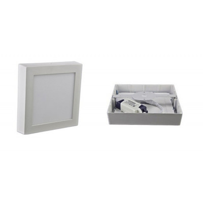 plafonnier CARRE applique 12w led installation en saillie blanc