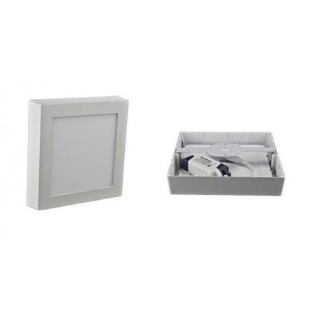 plafonnier CARRE applique 12w led installation en saillie blanc