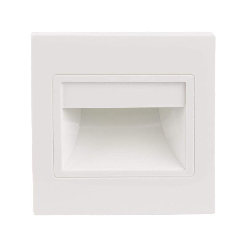 Spot de balisage à 1.5w LED d'escalier mur encastrable blanc