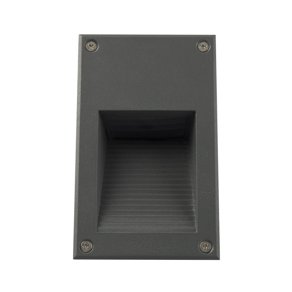 Spot de balisage 3w LED vertical d'escalier mur encastrable rectangle gris