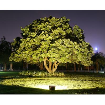 Projecteur led 50W noir extra plat ip65 4750 lumens etanche exterieur rocaille jardin