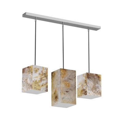 suspension triple led 30w 3600 lumens variable fibre de verre effet ardoise art deco moderne contemporain
