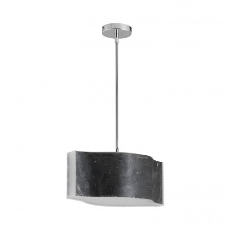 suspension noire led 18w 2150 lumens variable fibre de verre effet ardoise art deco moderne contemporain