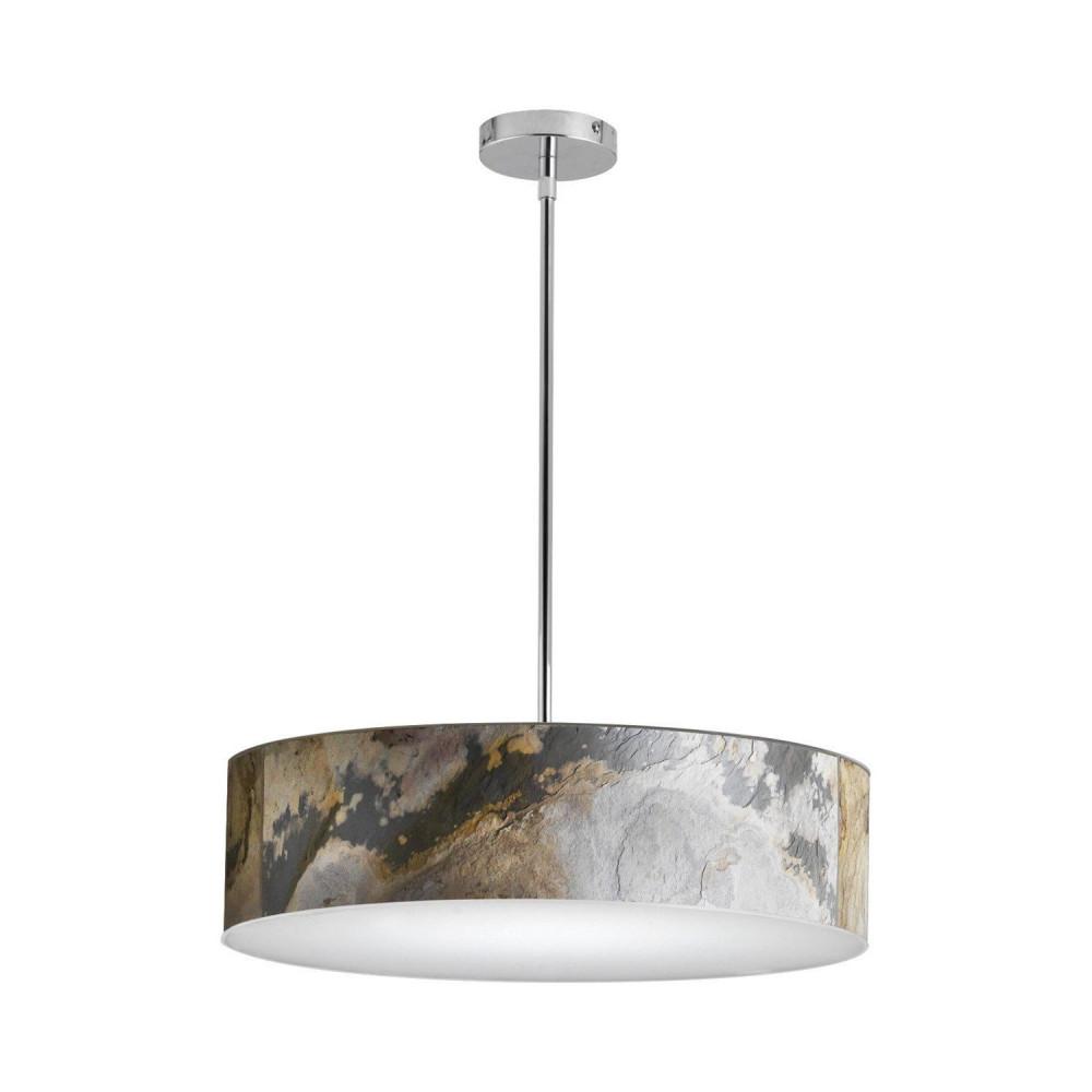 suspension led variable 50w 6000 lumens rond 58cm fibre de verre effet ardoise art deco moderne contemporain