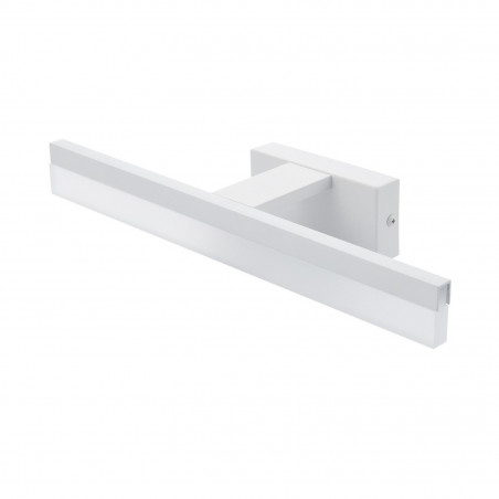 applique led 7w blanche ip44 miroir salle de bain barre 32cm
