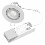 spot 7w led downlight rt2012 variable ip65 recouvrable rond blanc 89mm blanc-bbc-selectionneur de temperature 3000k-4000k-6000k