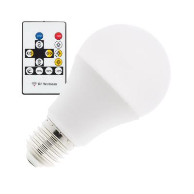ampoule led 9w teintes selectionnable 800 lumens-angle 180°-3000k4000k-6000k