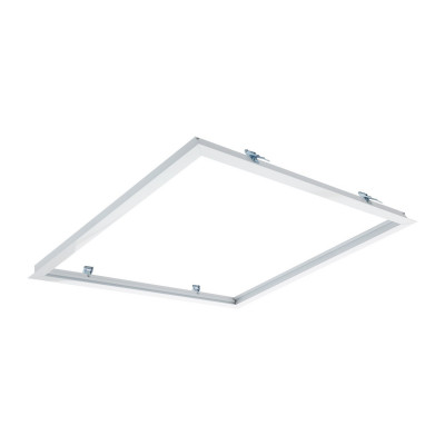 cadre pour encastrement dalle led 600x600mm avec ressort type downlight