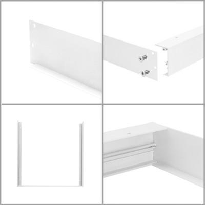 kit pose saillie pour dalle led 60x60cm panneaux lumineux 600x600mm