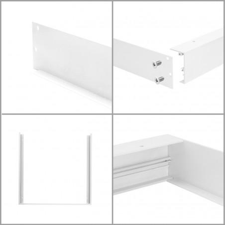 kit pose saillie pour dalle led 60x120cm panneaux lumineux 600x1200mm