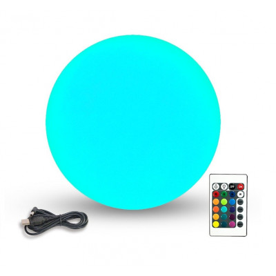 boule led 50cm rechargeable extérieur multi couleurs rgb+w telecommander