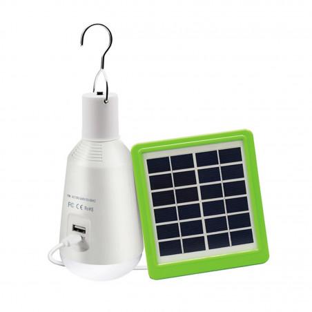 ampoule led 7w rechargeable lampe a main nomade solaire  etanche ip44