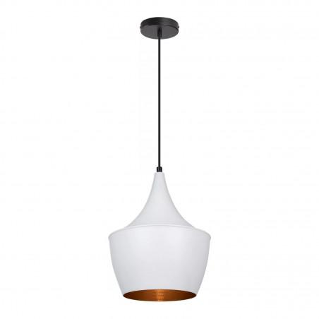 SUSPENSION moderne blanche lustre plafonnier coupe chinois culot ampoule e27