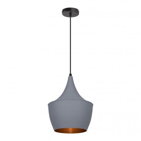 SUSPENSION moderne gris lustre plafonnier coupe grise chinois culot ampoule e27