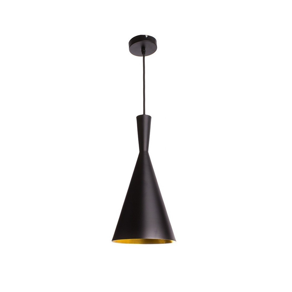 SUSPENSION moderne noire lustre plafonnier conique culot ampoule e27