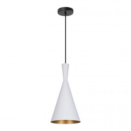 SUSPENSION moderne blanche lustre plafonnier conique culot ampoule e27