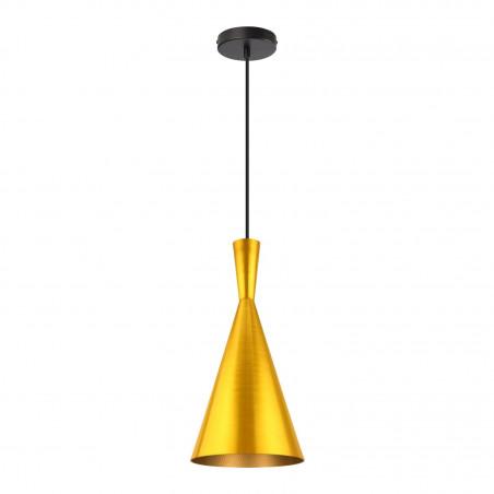 SUSPENSION moderne doré lustre plafonnier conique culot ampoule e27