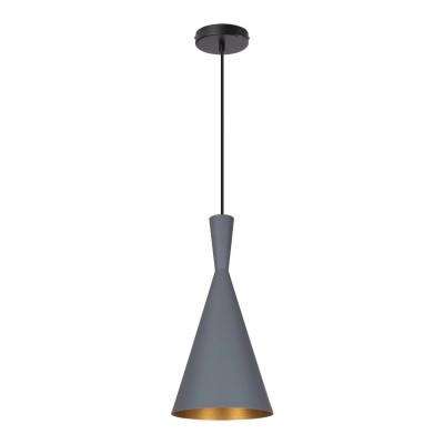 SUSPENSION moderne grise lustre plafonnier conique culot ampoule e27