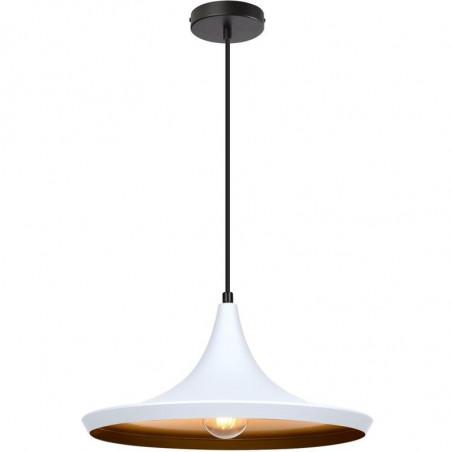 SUSPENSION moderne blanche lustre plafonnier culot ampoule e27