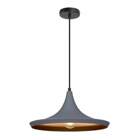 SUSPENSION moderne grise lustre plafonnier culot ampoule e27