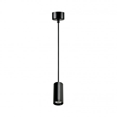 suspension noire spot gu10 led
