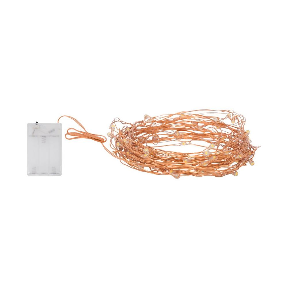 guirlande led a piles fils de fer décoration fetes 5 métres ou 10 métres