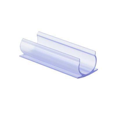 accessoire de fixation clip profil pvc pour ruban led neon flexible monochrome 360