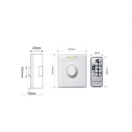interrupteur variateur variable radio ir dalle led 220v-600w-variation 1-10v