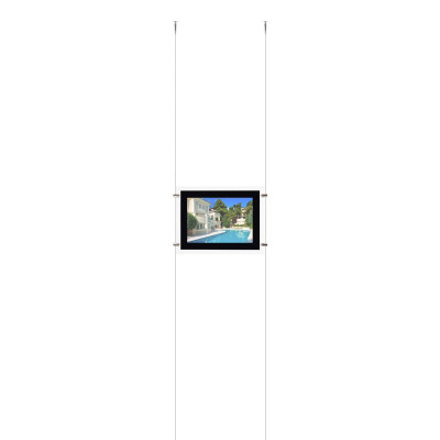 kit affichage led pour photo agence immobiliere vitrine enseigne feuille a4