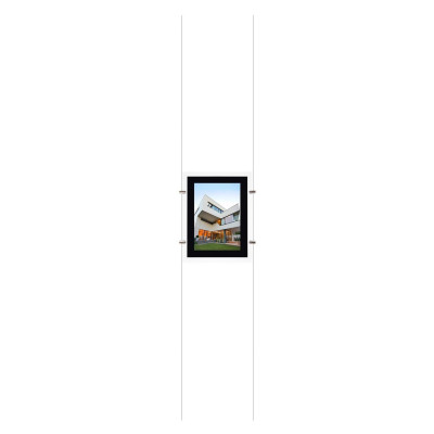 kit affichage led pour photo agence immobiliere vitrine enseigne feuille a3 vertical
