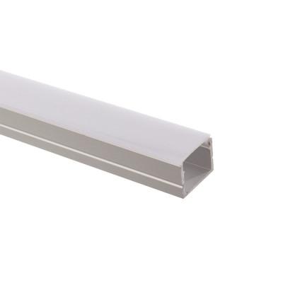 1m profilé aluminium au métre pour ruban led 220v monochrome