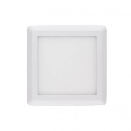 applique plafonnier led 12w carre blanc installation en saillie