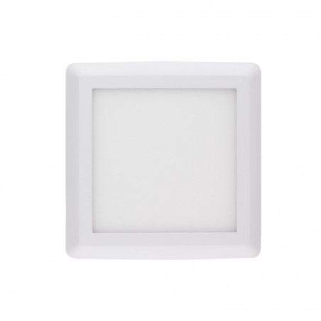 applique plafonnier led 24w carre blanc installation en saillie