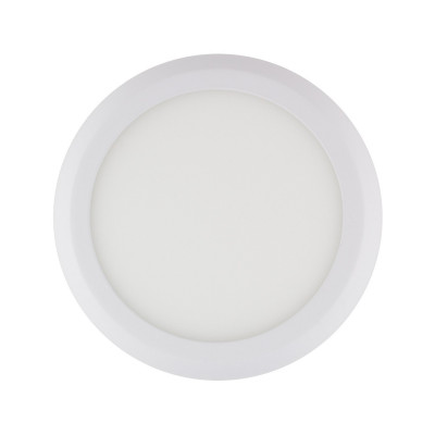 applique plafonnier ROND 12w led installation en saillie BLANC