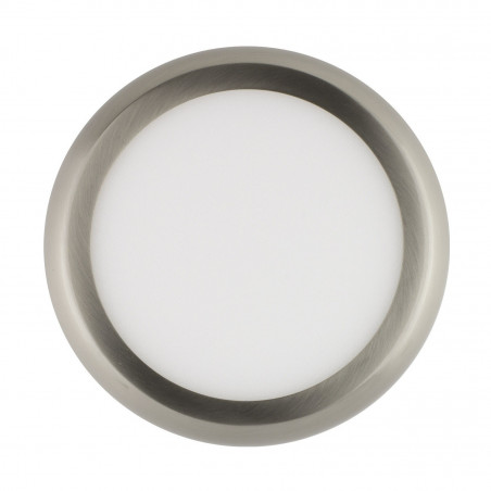 applique plafonnier ROND 12w led installation en saillie inox