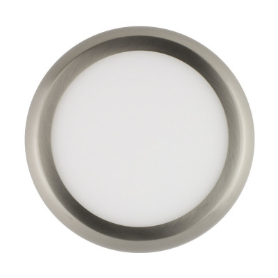 applique plafonnier ROND 24w led installation en saillie inox