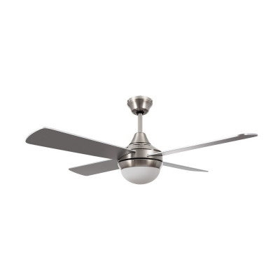 ventilateur de plafond radio 4 pales inox-3 vitesses-diametre 1100mm-15w led