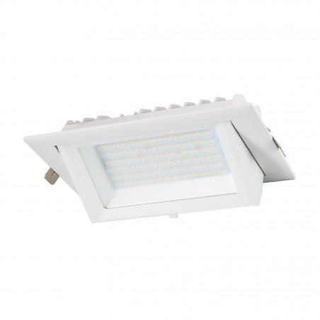 led encastrable 20w orientable rectangulaire blanc type halogene iodure 230x130mm-2600 lumens