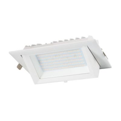 led encastrable 38w orientable rectangulaire blanc type halogene iodure 240x145mm-5000 lumens