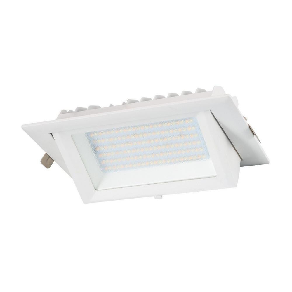 led encastrable 38w orientable rectangulaire blanc type halogene iodure 230x130mm-5000 lumens
