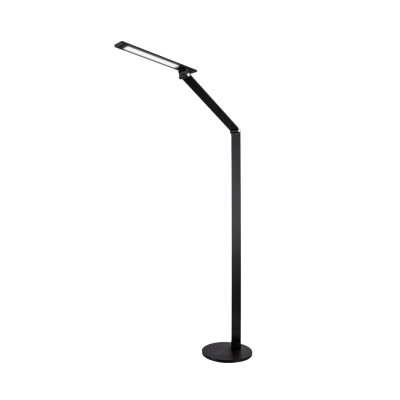 lampe a poser 135 cm noire led 8w de bureau de travail tete orientable