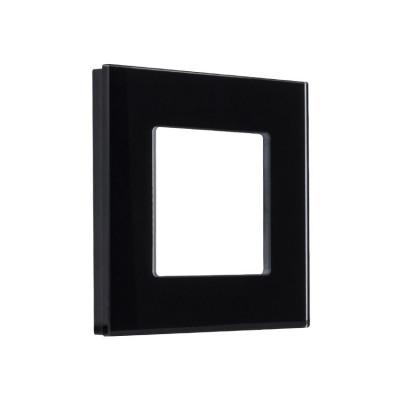 plaque verre simple poste noir ou blanc