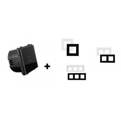 interrupteur tactile a impulsion type telerupteur verre noir ou blanc a composer