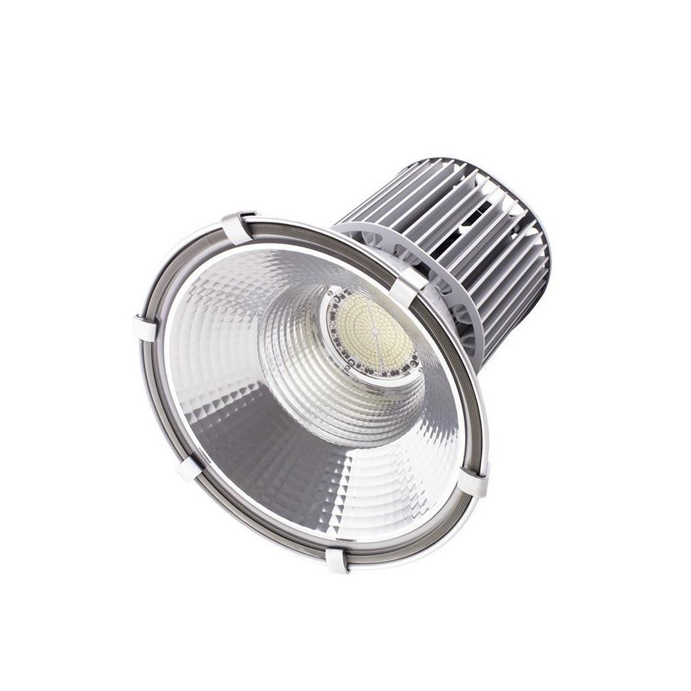 suspension cloche led 100w gamelle xiled haut rendement projecteur pro ip65 garage usine reflecteur